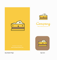 cheese company logo app icon and splash page vector image