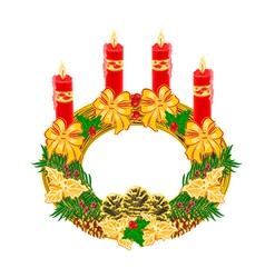 Christmas decoration Advent wreath vector