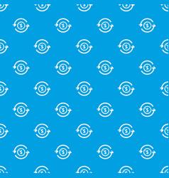 circulation money pattern seamless blue vector image