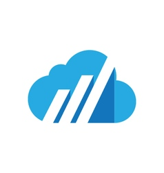 Cloud logo template icon vector
