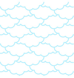 clouds seamless pattern sky background retro vector image