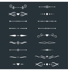 Collection of dividers vector