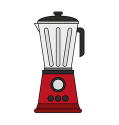 color image cartoon electronic device red blender vector image