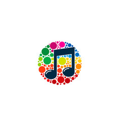 color music logo icon design vector image