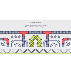 Colored horizontal flat of engineering processes vector