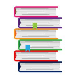 colorful pile of books vector image