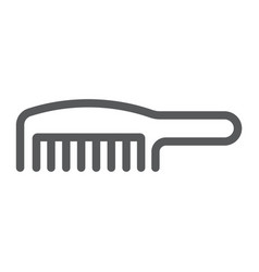 comb line icon barber and beauty hairbrush sign vector image