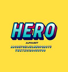 Comics super hero style font vector