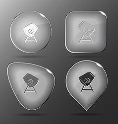 Concrete mixer Glass buttons vector