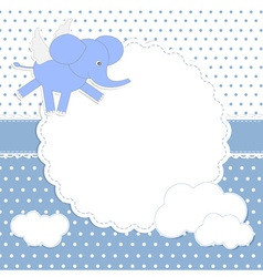Cute baboy card vector