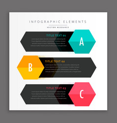 Dark three infpgraphics template vector