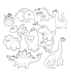 Dinosaurs Family vector