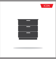 drawer icon isolated on white background vector image