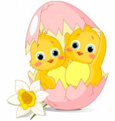 Easter cartoon vector