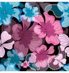 floral graphic pattern vector image