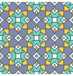 Geometric seamless pattern abstract arabic vector