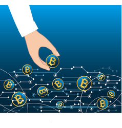 getting money from virtual net flow business vector image