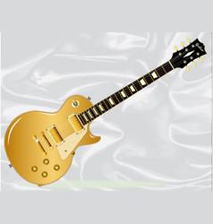 Gold top blues guitar vector