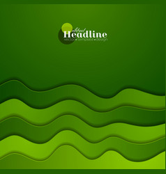 Green corporate elegant waves abstract background vector