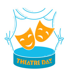 greeting card world theatre day vector image