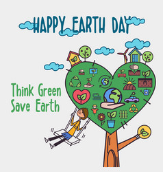 happy earth day concept concept vector image