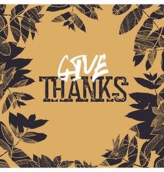 Happy Thanksgiving retro card design Fallen leaves vector