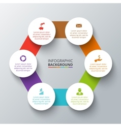 Hexagon with circles for infographic vector