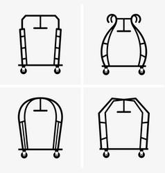 hotel luggage carts vector image