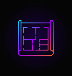 house plan colorful icon vector image