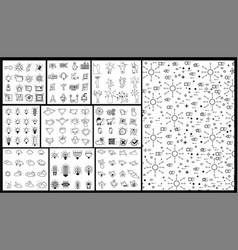 icon linear icon mega collection various symbols vector image