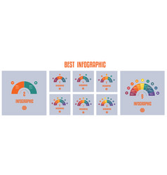infographics templates from colourful parts vector image