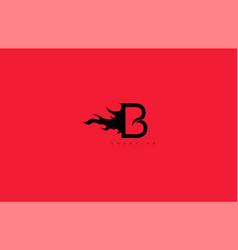 Initial letter b monogram flame fire logo design vector