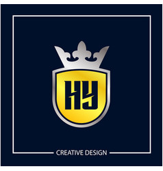 initial letter hy logo template design vector image