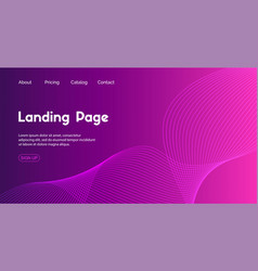 landing page template abstract minimal vector image