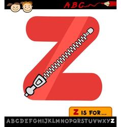 Letter z with zipper cartoon vector