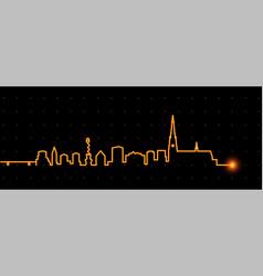 linz light streak skyline vector image