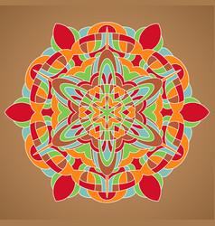 multicolored mandala vector image