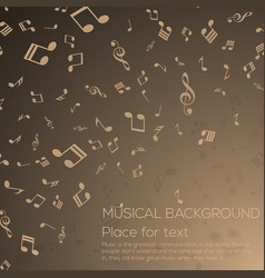 musical background with musical notes vector image