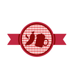 Oktoberfest simple ribbon for banner and headline vector