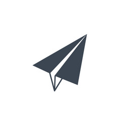 Paper airplane related glyph icon vector