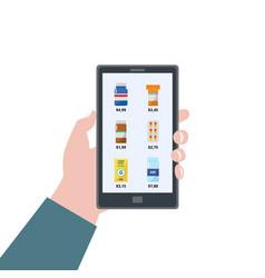 pharmacy app - online drugstore app on phone vector image