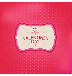 Pink Valentines Day Card vector image