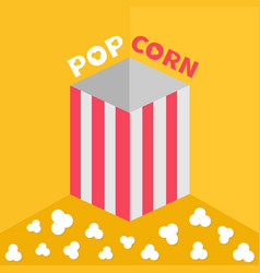 popcorn on the floor red yellow strip square vector image