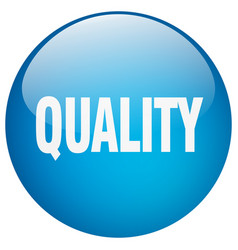 Quality blue round gel isolated push button vector