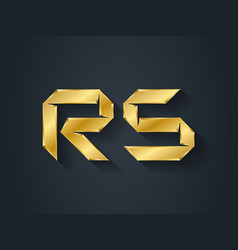 rs - gold logotype elegant template for company vector image