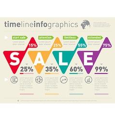 Sale infographic timeline time line social vector