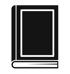 school book icon simple style vector image