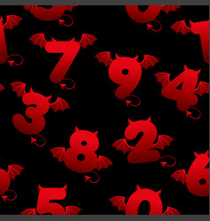 seamless pattern with devilish numbers textures vector image