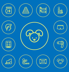 Set of 12 editable folks outline icons includes vector