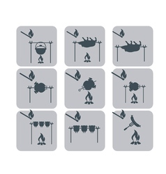 Set of barbecue icons vector